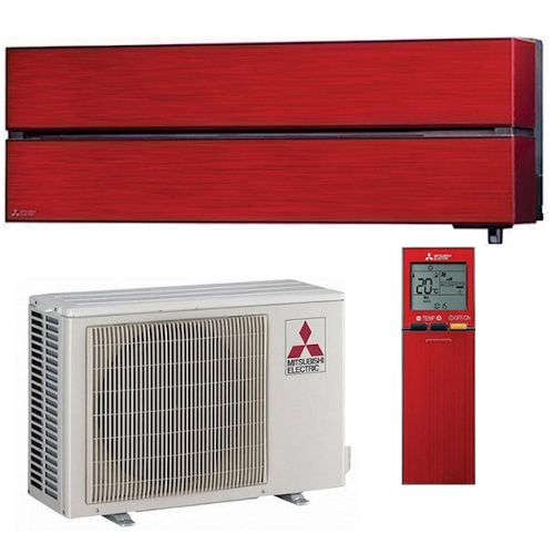 Mitsubishi Luxury LN35VGR 3.5kW inverteres oldalfali split klíma - red - (R-32, Wifi)